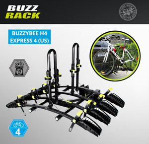 "BUZZ Rack Express 4 Bike Premium Platform TILTING Hitch 2"" Receivers Car SUV's"