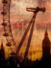 ABSTRACT PAINTING LONDON EYE BIG BEN LONDON POSTER ART PRINT HOME PICTURE BB230B