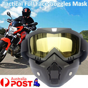 Tactical Full Face Goggles Gel Blaster Paintball Outdoor Protective Glasses