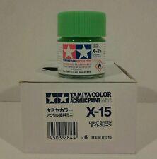 Tamiya acrylic paint X-15 Light green. 10ml Mini.