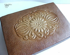 Vintage Pressed Carton Celluloid Leather Embossed Jewelry Box, ca.1930s