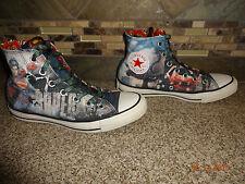 """Converse All Star """"SUPERMAN"""" Sz Mens 6 Womens 8 Hi-Top Faded Look Shoes"""