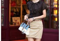 New Women's High Waist Sexy Black Shinny Wet Look Short Mini Skirt Dress