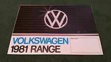 1981 VW RANGE UK FOLDER BROCHURE Polo Derby Golf inc GTi Jetta Passat Scirocco
