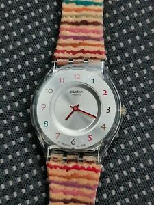 Swatch Watch Thin With Fabric Strap