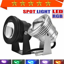 2/4/8pcs 10W Underwater LED RGB Lamp Waterproof Spot Light AC/DC12V Convex lens