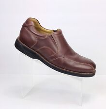Johnston and Murphy Men's Brown Leather Sheep Skin Loafer Shoes Size 9 M
