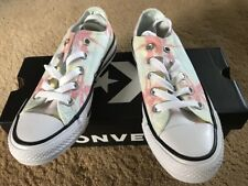 Converse Womens Size 5 CTAS Ox Barely Green/Pale Coral/White 560303F