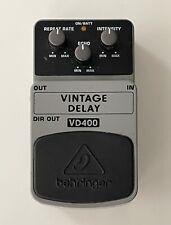 More details for behringer vd400 vintage analog delay guitar effects pedal
