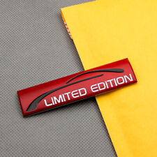 3D Metal Red Limited Edition Auto Rear Trunk Badge Car Door Emblem Sticker Decal