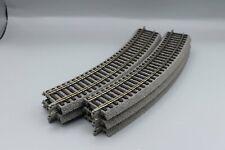 6 x Piko 55412  A-Gleis - gebogenes Gleis mit Bettung R2 422 mm 30°