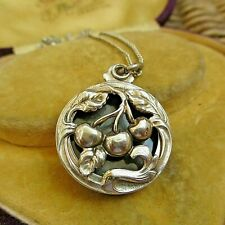 BEAUTIFUL FRENCH ART NOUVEAU STERLING SILVER LOCKET & CHAIN