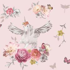 FANTASIA ANASTASIA unicornio Papel Pintado Rosa - Arthouse 692302 con purpurina