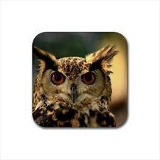 Eurasian Owl Non-Slip Coaster Set