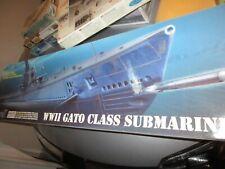 REVELL 1/72nd SCALE  WW2 GATO CLASS SUBMARINE PLASTIC  KIT #  85-0384