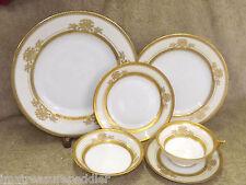 Pirkenhammer Czechoslovakia Gold Encrusted Floral Urn 69 pc Dinnerware China Set