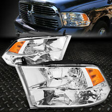 FOR 09-18 RAM 1500 2500 3500 CHROME HOUSING AMBER CORNER HEADLIGHT HEAD LAMPS