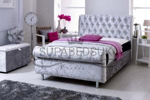 NEW SINCLAIR SLEIGH BED FRAME CHESTERFIELD UPHOLSTERED UK MADE 3FT 4FT 5FT 6FT