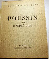 NICOLAS POUSSIN/TEXTE D'ANDRE GIDE/AU DIVAN/1945/EO/TIRAGE HELIO