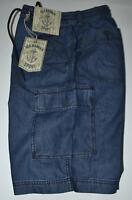 Bermuda uomo M L XL XXL 3XL pantalone corto tasconi SEA BARRIER jaens leggero