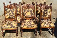 R.J. HORNER CARVED SET OF 6 OAK DINING CHAIRS & Oak America Antique Chairs (1800-1899) for sale | eBay