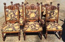 R.J. Horner Carved Set Of 6 Oak Dining Chairs