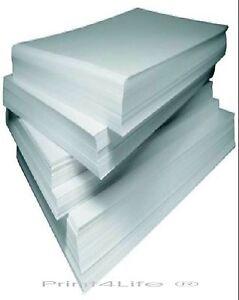20 Bögen Visitenkarten Papier 85x54 mm mit je 10 Karten glatt für Laser Tinte
