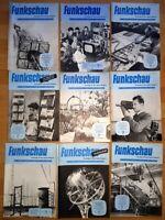 24x Funkschau 1956 Funktechnik Zeitschrift Hefte alt Franzis Radio TV Kamera
