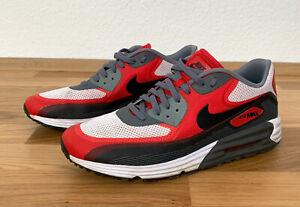 NIKE Air Max Lunar 90 C3.0   Herren Sneaker Gr. 45   Weiß Rot Grau   631744-101