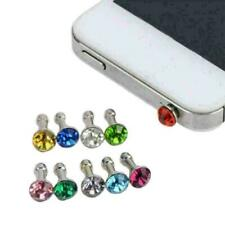 3.5mm Bling Diamond Mixed Crystal Earphone Jack Anti Plug Hot Cap Dust Y4I3 F1B0