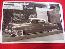 1953 CADILLAC COUPE DE VILLE  AUTO SHOW DISPLAY  11 X 17  PHOTO   PICTURE