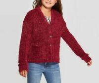 Art Class Girls' Fuzzy Soft Long Sleeve Sweater Burgundy Size XL (14/16) NWT