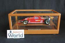 Matilde Model Ferrari 126 CK 1981 1:18 #27 Gilles Villeneuve in show case (PJBB)