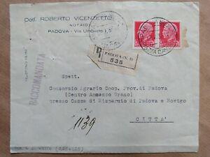 1937 ITALIA, BUSTA POSTALE, VIAGGIATA CON FRANCOBOLLI INTEGRI