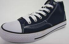 *SALE* Spot On X0002 Men's Navy Lace Up Hi Rise Canvas Sneaker Shoes