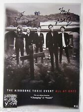 Airbourne Toxic Event REAL hand SIGNED All at Once 11x17 promo poster All 5 #2