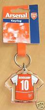 Arsenal Keyring Dennis Bergkamp 10 shirt design, New,unused