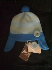 """Bonnet en tricot """" Moi Bébé Clayeux"""" bicolore T 12-24 mois neuf+étiquette"""
