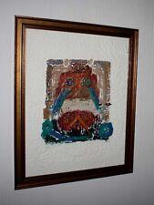 """firmado & Numerados DAVID Dodsworth Arte Litografía,marco,COA,"""" moas I """",uacc"""