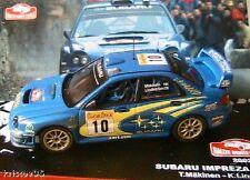 SUBARU IMPREZA WRC RALLYE MONTE CARLO 2002 MÄKINEN 1/43 LINDSTROM IXO ALTAYA