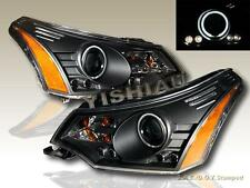 2008 2009 2010 2011 FORD FOCUS LED PROJECTOR HEADLIGHTS BLACK CCFL HALO