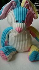 "Sugar Loaf Bunny Rabbit Plush Ribbed Stuffed 16"" PASTEL COLORS"