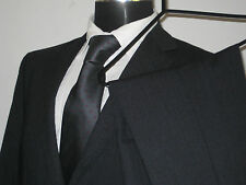 LUXE DORMEUIL Voyage, 2 boutons, gris à rayures costume taille 44r - 36W 32L pantalon