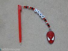 PERSONALIZZATA DS/DSI Stilo Penna con amuleto Spiderman rosso penna