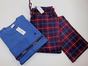 NWT $98 BROOKS BROTHERS Size S Men's L/S Multi Plaid Flannel Lounge Pant Set