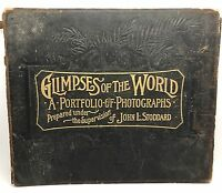 ANTIQUE Glimpses of the World, John Stoddard, Werner 1894, Photography (RF654)