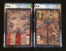 CAPTAIN AMERICA 19 MIGHTY THOR 22 CGC 9.8 9.4 COLLAGE VARIANT SET! (Lot 1 6 25)