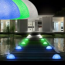 3er Set LED Halbkugel Leuchte Außenbereich IP44 bunt Deko Garten Beleuchtung Hof