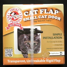 CAT FLAP Small Cat Door Model SPF - White, Flap Size 6.25 x 6.25 Inches, NEW