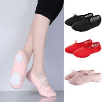 Professional Ballet Dancers Adult Ballet Dance Split-Sole Canvas Slipper Shoes M